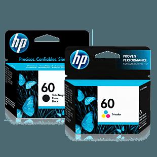 Pack de Cartuchos de Tinta HP 60 Negro + Tricolor