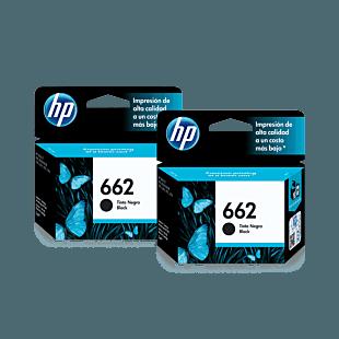 Pack de 2 Cartuchos de Tinta HP 662 Negra Original