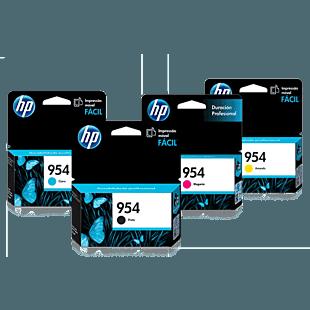 Pack de Cartuchos de Tinta HP 954 Negro + Cian + Magenta + Amarillo